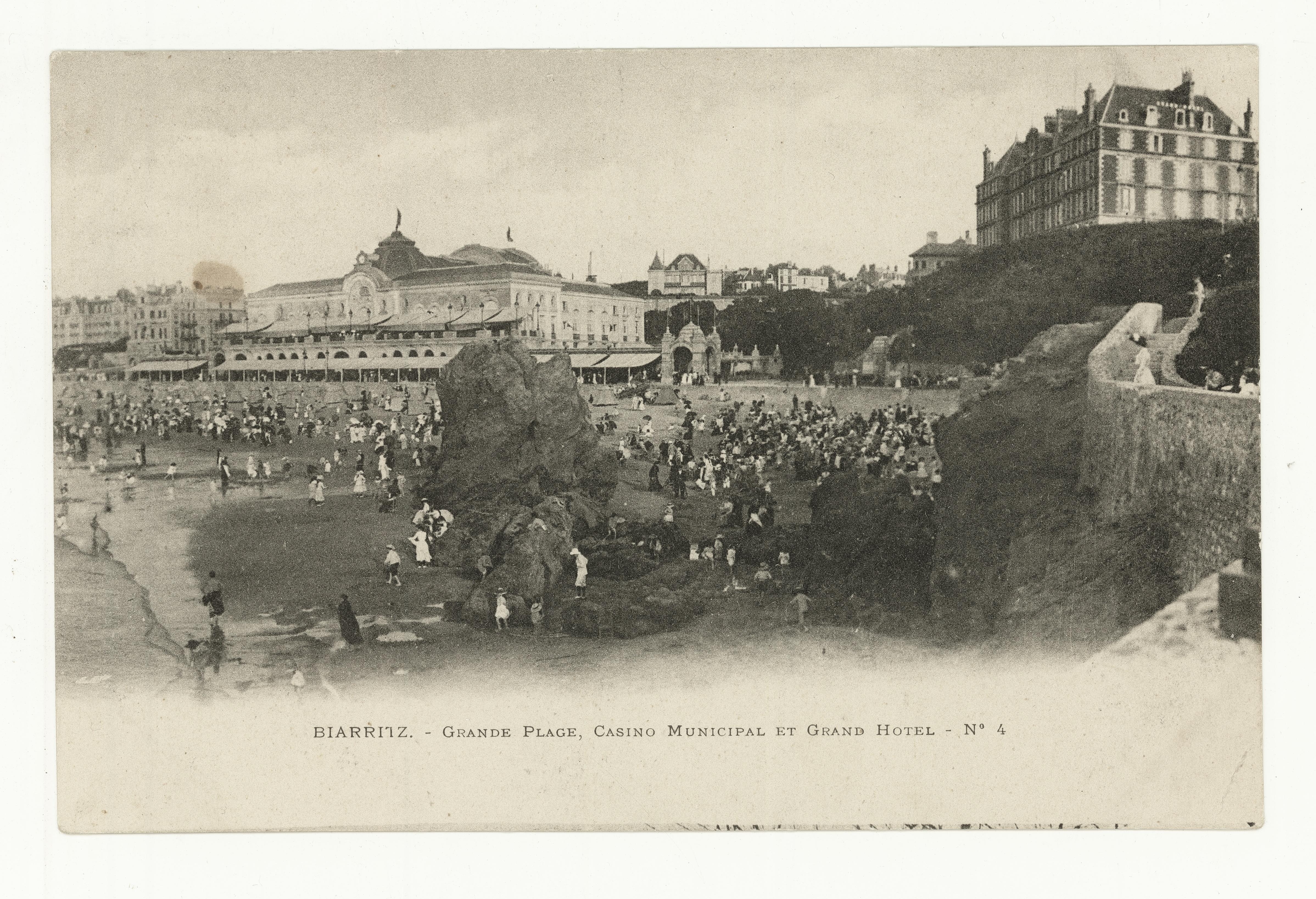 Avant Après #3 Côte Basque_ La Grande Plage Casino Municipal et Grand Hôtel Biarritz