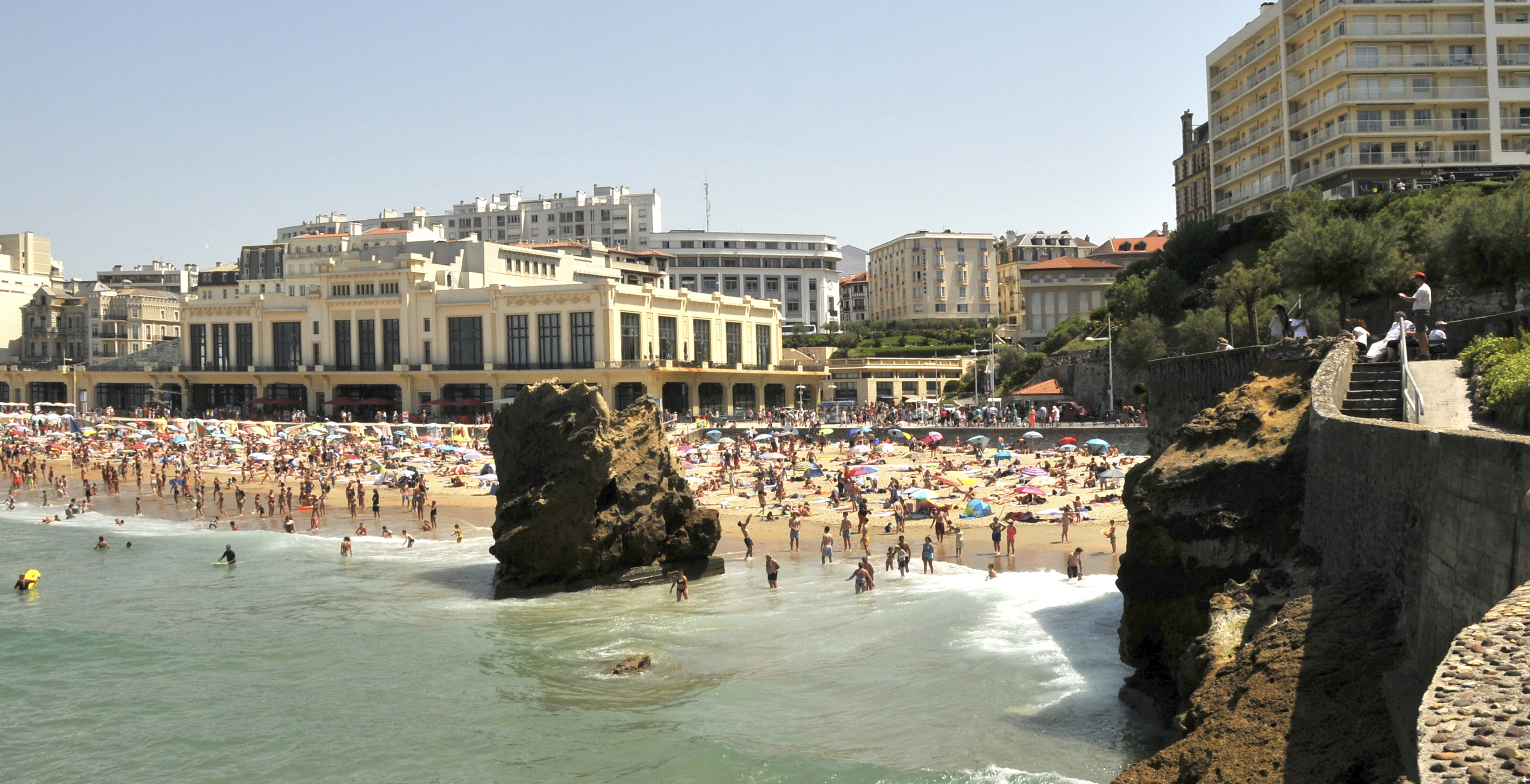 Avant Après #3 Côte Basque8 La Grande Plage et le Casino Municipal aujourd'hui