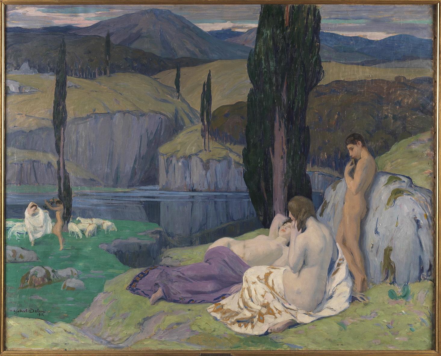 Gabriel DELUC (1883-1916) Le Lac 1912
