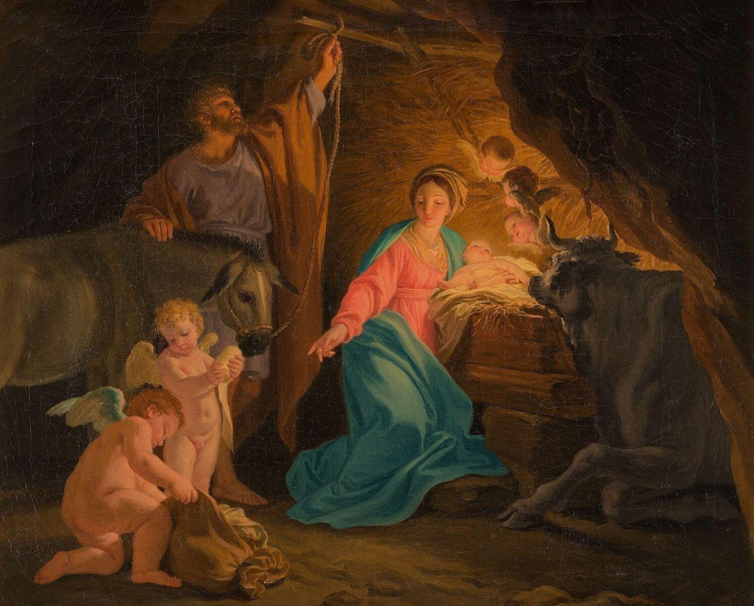 Domenico CORVI (1721-1803) La Nativité, vers 1750