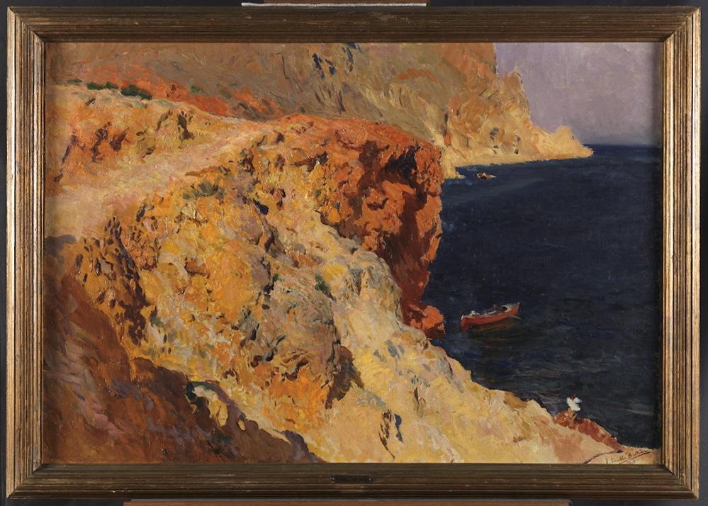 Joaquín SOROLLA Y BASTIDA (1863-1923) Les rochers de Cap Jávea, 1901
