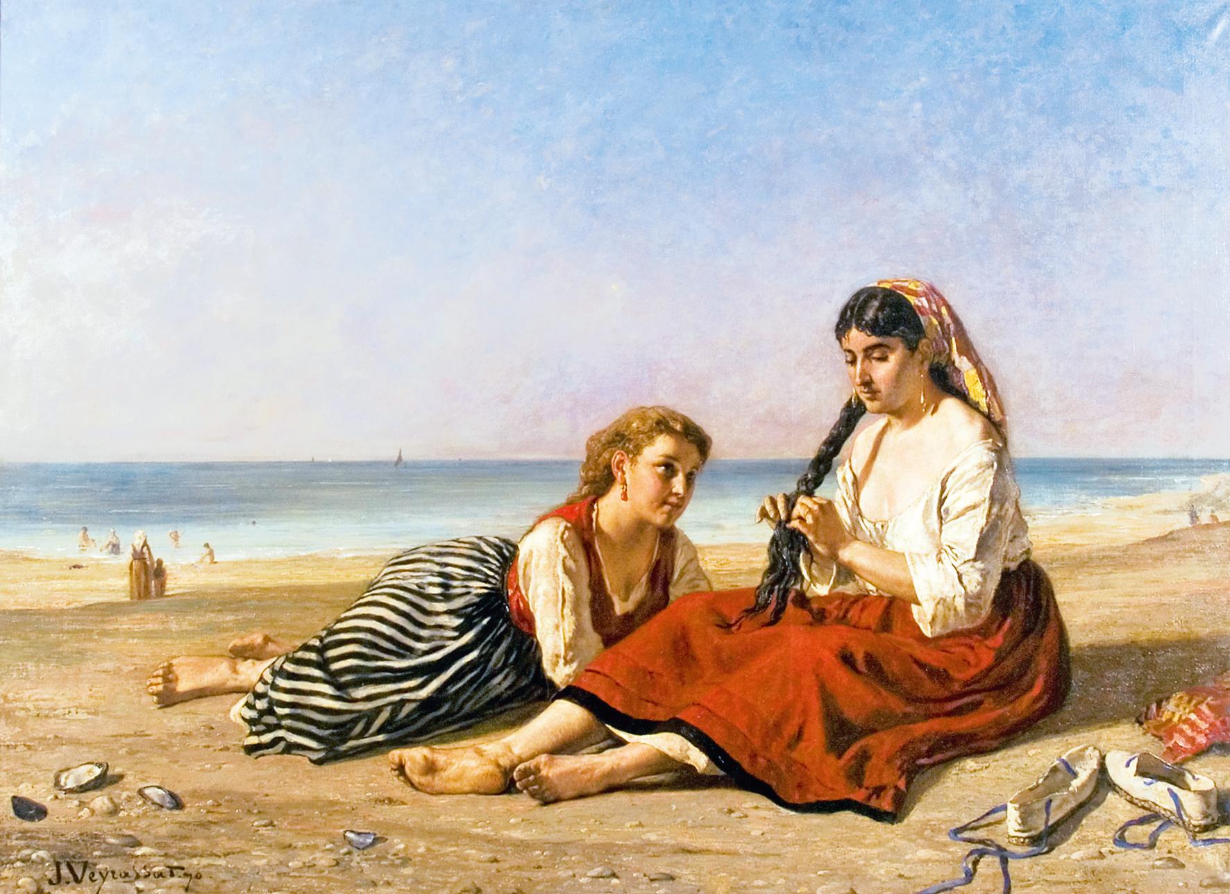 Jules-Jacques Veyrassat Femmes basques après le bain