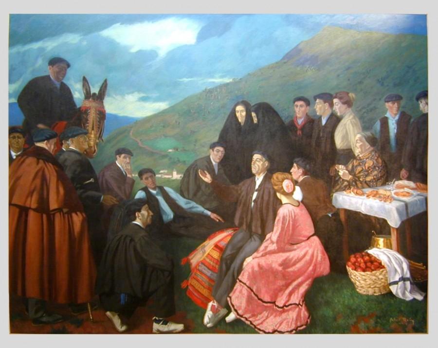 256, L'improvisateur ROBY, Gabriel [Bayonne 1878 – Paris, 1917] Huile sur toile, 1913