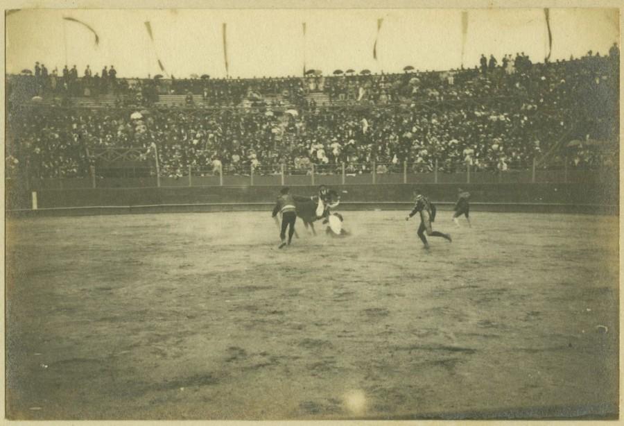 E.4376.2 Bayonne – Corrida dans les arènes Gélatino-bromure d'argent 1895
